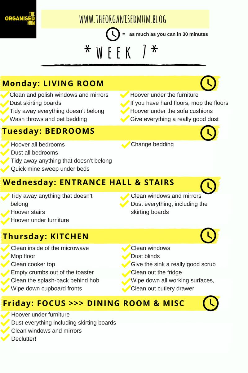 The Organised Mum Method Week 7 FREEPRINTABLE