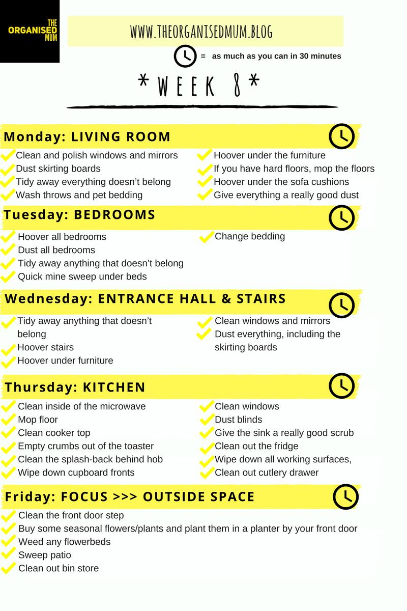 The Organised Mum Method Week 8 FREEPRINTABLE