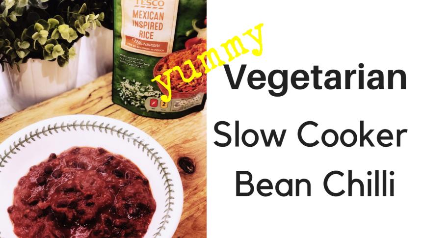 Slow Cooker Veggie Bean Chilli (DairyFree)